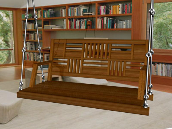 Stylish wooden swings or jhula manufacturer in india for Living room jhula